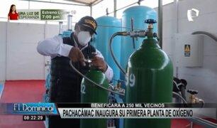 Covid-19: Planta de oxígeno medicinal gratuita fue inaugurada en Pachacámac