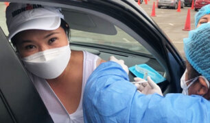 Surco: Keiko Fujimori recibió su primera dosis de la vacuna contra la Covid-19
