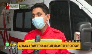 Breña: propinan puñete en el rostro a bombero cuando atendía una emergencia