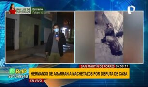 SMP: Hermanos se agarran a machetazos por presunta disputa de casa