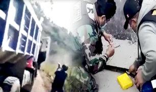 Detienen a cuatro policías que desviaban carga de droga en el Vraem