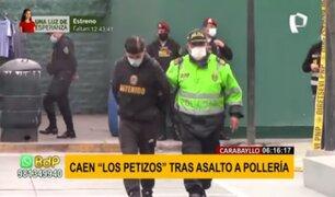 Carabayllo: cae banda delincuencial tras asaltar una pollería