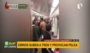 Denuncian que extranjeros presuntamente ebrios subieron a tren y provocaron pelea