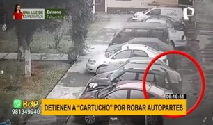 Detienen a experimentado ladrón de autopartes en Pueblo Libre