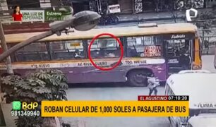 Puente Nuevo: sujetos aprovechan caos vehicular para robar celulares a pasajeros de bus