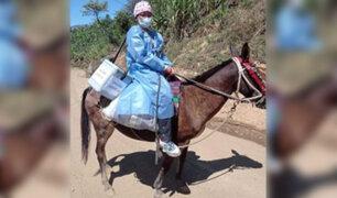 Piura: brigadas sanitarias recorren por horas agrestes caminos para vacunar contra la Covid-19