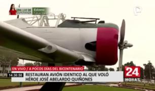 Restauran avión idéntico al que voló el héroe José A. Quiñones