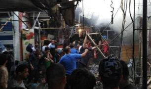 Irak: explosión en concurrido mercado de la capital deja 22 muertos y decenas de heridos