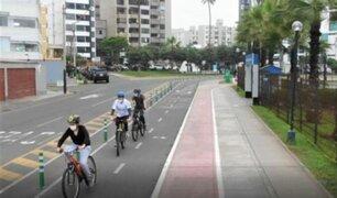 Mejoran ciclosenda del Parque Bicentenario para evitar accidentes entre ciclistas y peatones