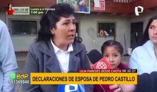 Pedro Castillo: Su esposa Lilia Paredes confirma que viajará a Lima