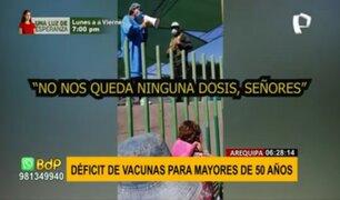 Arequipa: realizarán vacunatón para aplicar segunda dosis a mayores de 50 años