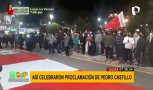Pedro Castillo: así celebraron su proclamación en el interior del país