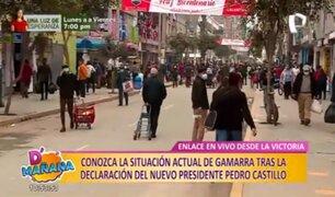 Este es el panorama en Gamarra tras proclamación de Pedro Castillo