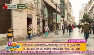 Jirón de la Unión: actividades se desarrollan con normalidad tras proclamación de Castillo