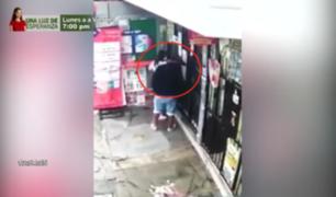 Encañonan y le roban a mujer en agente bancario de La Perla