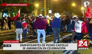 Cientos de simpatizantes celebraron proclamación de Pedro Castillo
