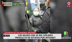 Jockey Plaza: intervienen a mujer con cerca de US$33 mil producto de una estafa