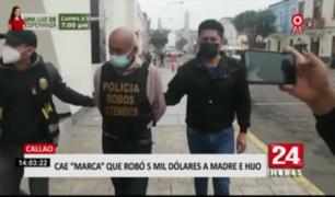 Cae sujeto que participó de robo de US$ 5 mil a mujer en el Callao