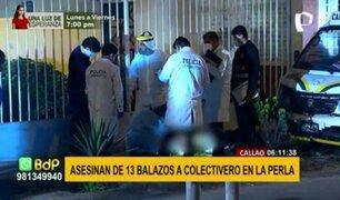 Crimen en el Callao: hombre fue asesinado a balazos por presuntos sicarios