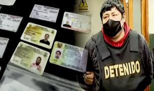 Cercado: Policía detecta a falsificador de carnets de extranjería y pruebas COVID-19