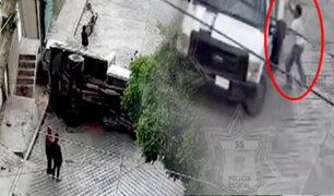 ¡Sorprendente! camión aplasta a hombre, pero sobrevive al accidente