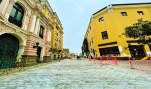 Obras de peatonalización del Centro Histórico de Lima siguen avanzando