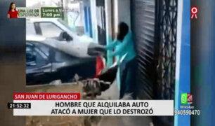 SJL: mujer que causó daños a vehículo alquilado por su presunta pareja podría ir a la cárcel