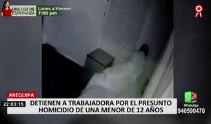 Arequipa: detienen a trabajadora por presunto homicidio de una menor de 12 años