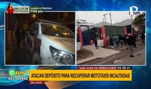 SJM: Mototaxistas atacan depósito municipal para recuperar vehículos incautados