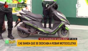 """""""Los intocables de Santa Rosa"""": Cae banda que se dedicaba a robar motocicletas"""