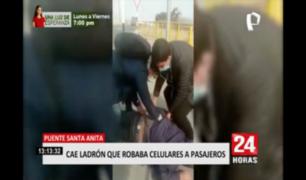 Puente Santa Anita: cae ladrón que robaba celulares a pasajeros