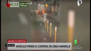 Camión sin conductor casi provoca tragedia en la vía Expresa Línea Amarilla
