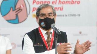 """Ministro Ugarte: """"Estamos dejando contratadas alrededor de 80 millones de dosis de vacunas"""""""