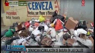 Tumbes: gran cantidad de basura en las calles a pocos días del Bicentenario