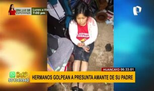 Huancayo: Hermanos golpean y maniatan a presunta amante de su padre