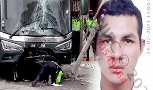 Bus de la Policía aplasta y mata a madre comerciante en SJM
