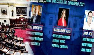 Congreso: Hoy se elige a Mesa Directiva para el periodo 2021-2022