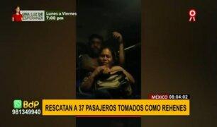 México: rescatan a 37 pasajeros de autobús tomados como rehenes