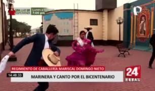 Regimiento Mariscal Domingo Nieto: marinera y canto por el Bicentenario
