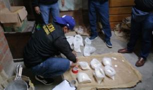 Puente Piedra: decomisan más de 40 kilos de drogas en un laboratorio clandestino