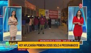 Inconvenientes en vacunación en La Videna: Hoy aplicarán primera dosis solo a programados