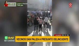 Juliaca: vecinos dan paliza a presunto delincuente acusado de robar a una mujer