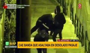 El Agustino: cae peligrosa banda que acorralaba y robaba en desolado pasaje