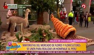 Miraflores: floristas y mayoristas se unen para rendir homenaje a la patria por el Bicentenario