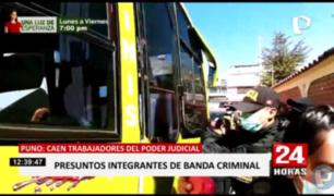 'Los aladinos del altiplano': intervienen a 18 trabajadores del PJ por integrar presunta mafia en Puno