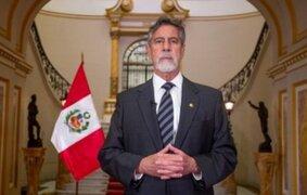 Francisco Sagasti brindó su último mensaje a la Nación como presidente del Perú