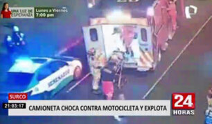 Ciclista y motociclista se convirtieron en protagonistas de accidentes en La Victoria y Surco