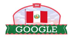 Fiestas Patrias: Google celebra el Bicentenario del Perú con 'doodle'