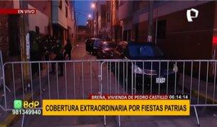 Breña: gran expectativa en exteriores de vivienda de Pedro Castillo