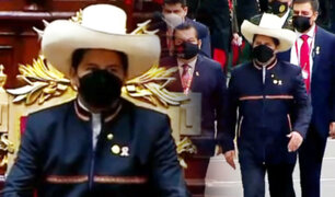 Así fue la llegada de Pedro Castillo al Congreso de la República